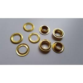 Oczka do banerów 10mm mosiężne złote