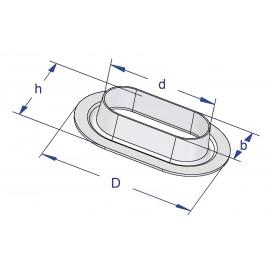 Oczka owalne do banerów i plandek 42x22mm, 100szt.